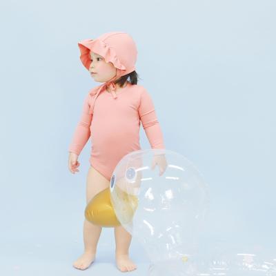 [메르베] 멜로우 스윔슈트 코랄핑크 아기 수영복