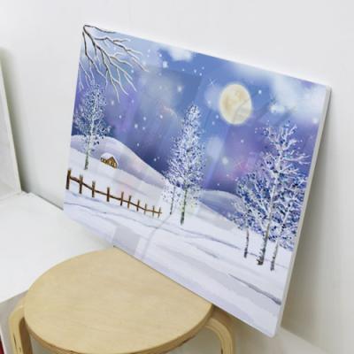 il360-폼아크릴액자78CmX56Cm_눈오는겨울풍경