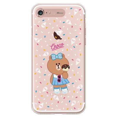 라인프렌즈 iPhone7 8 CHOCO ICE Cream LIGHT CASE