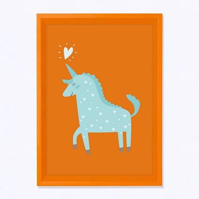 주폴라(Zoopola) 유니 오렌지/ 아이방 북유럽 그림 인테리어 액자