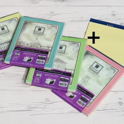 옥스포드 레터 80매 PP 포켓스프링노트+패드 ASN10016