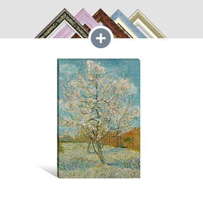 인테리어 액자 캔버스 포스터 꽃이 핀 복숭아나무