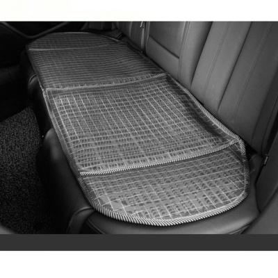 여름철 시원하고 쾌적한 실버체크무늬 통풍 3인방석