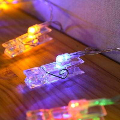 10구 LED 컬러 집게 전구(1.5M)