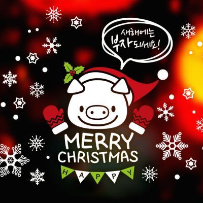 제제데코 크리스마스 눈꽃 스티커 장식 CMS4J120