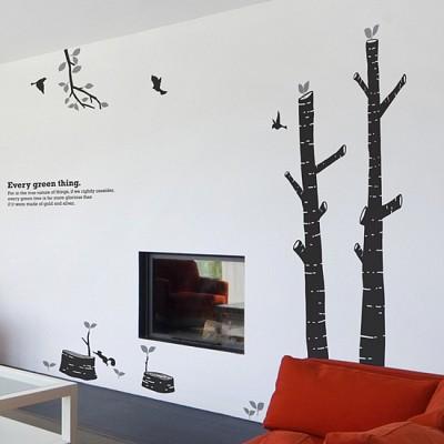 숲의아이 (완제품C타입) 그래픽스티커 나무 포인트 시트지