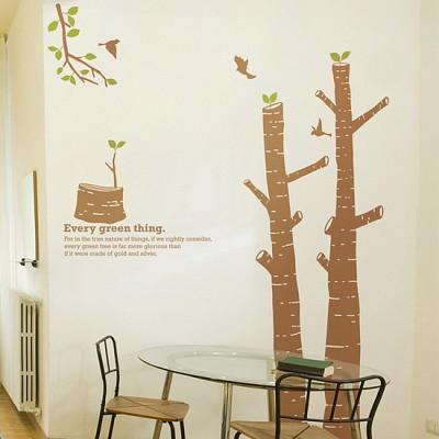 숲의아이 (완제품B타입) 그래픽스티커 나무 포인트 시트지