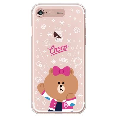 라인프렌즈 iPhone7 8 CHOCO Cheer-UP LIGHT CASE