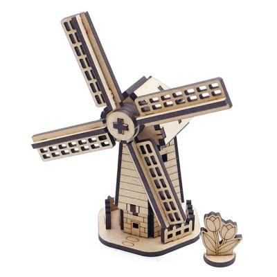 풍차 건축 건물 프라모델 나무 조립 모형 DIY 만들기