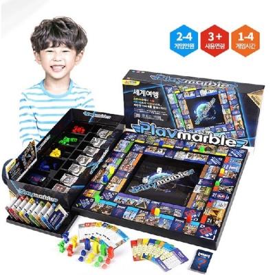 가족 실내 놀이 플레이마블 세계 일주 여행 보드 게임