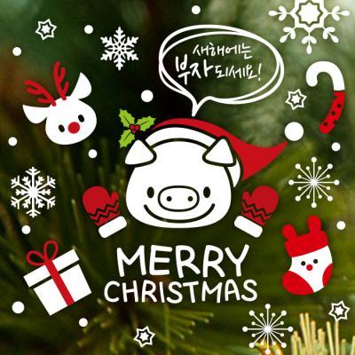 제제데코 크리스마스 눈꽃 스티커 장식 CMS4J240