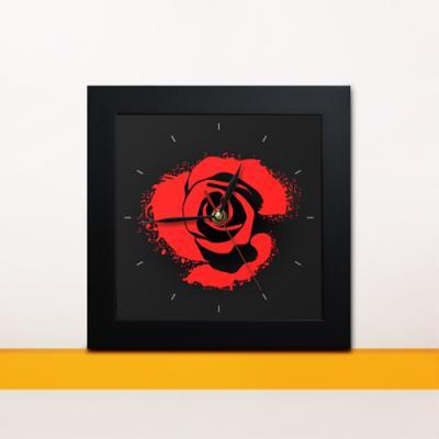 cw079-레드로즈뮤직미니액자벽시계_디자인액자시계