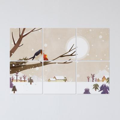 tb691-멀티액자_새와겨울풍경구경