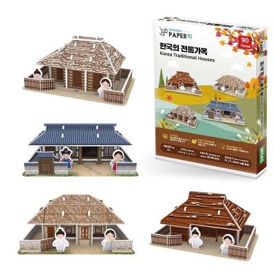 3D입체퍼즐 한국의 전통가옥 시리즈 4종 만들기 수업 미니어처 모형 제작 취미 집콕놀이