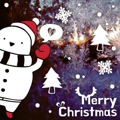 제제데코 크리스마스 눈꽃 스티커 장식 CMS4J226