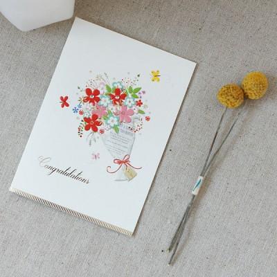 꽃 한다발, 축하카드 / 020-SG-0077