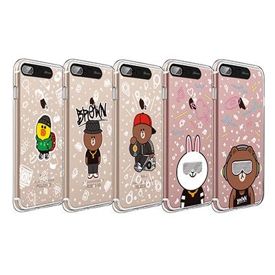 라인프렌즈 iPhone 7,8 Plus BEAT BROWN 2 CASE