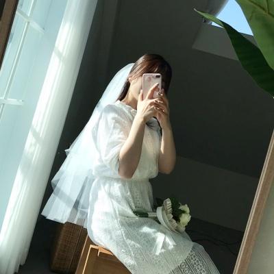 셀프웨딩 면사포 베일 심플 웨딩베일 웨딩 촬영 소품