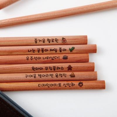 [주문제작]네임연필2B 12자루우드 모티브선택★