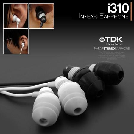 ★TDK★i310 커널형이어폰/시크한 디자인/인-이어타입/외부소음차단/섬세한사운드/깔끔한디자인/색상선택
