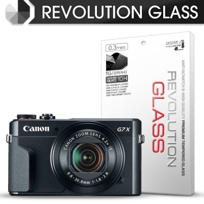 [프로텍트엠/PROTECTM] 레볼루션글라스 0.3T 강화유리필름 방탄액정보호 2장 디지털 카메라 똑딱이 CAMERA 캐논 CANON POWERSHOT G7 X Mark II 마크2