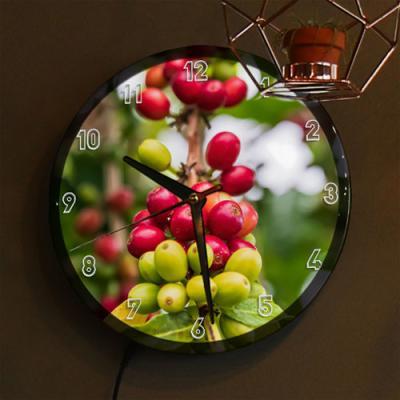 nj075-LED시계액자25R_커피빈(커피나무)