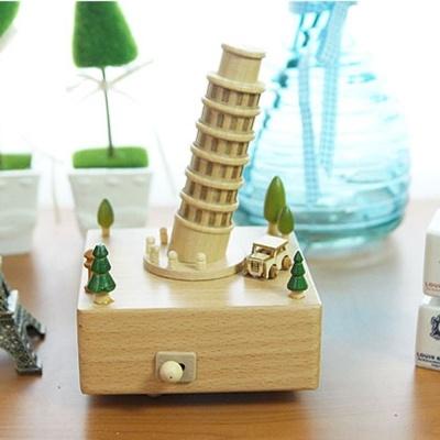 친구 연인 기념 생일 선물 개업 피사의사탑 오르골