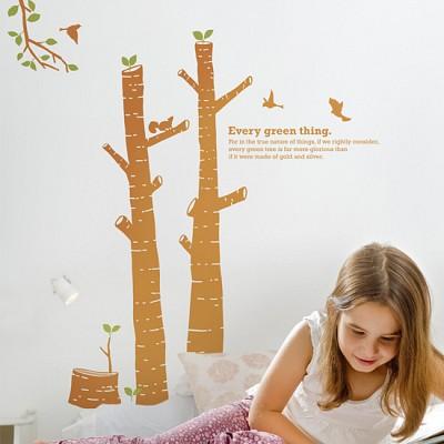 숲의아이 (완제품A타입) 그래픽스티커 나무 포인트 시트지