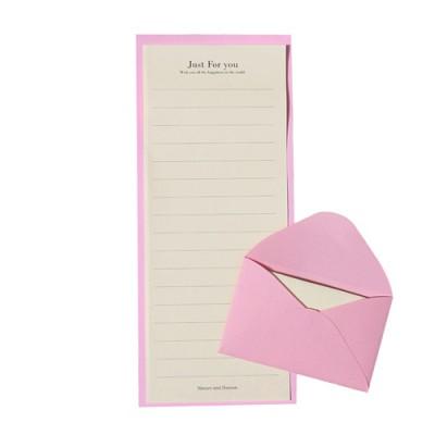 [자연과사람] C편지지 세트 -핑크