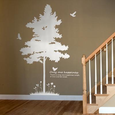 실루엣 (반제품B) 나무1그루 그래픽스티커 인테리어  집꾸미기 벽장식 데코 스티커