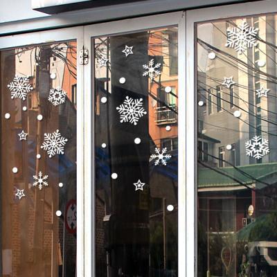 제제데코 크리스마스 눈꽃 스티커 장식 CMS4J217