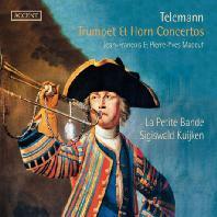 TRUMPET & HORN CONCERTOS/ JEAN-FRANCOIS MADEUF, SIGISWALD KUIJKEN [텔레만: 트럼펫과 호른 협주곡들]