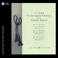 SONATAS & PARTITAS FOR UNACCOMPANIED VIOLIN/ JOHANNA MARTZY [워너 오리지널 자켓 컬렉션] [요한나 마르치: 바흐 무반주 바이올린을 위한 소나타와 파르티타]