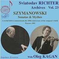 SZYMANOWSKI: SONATAS & MYTHES/ OLEG KAGAN [ARCHIVES VOL.23] [스비아토슬라브 리히터: 시마노프스키]