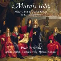 MARAIS 1689: PIECES FOR ONE AND TWO VIOLS AND BASS CONTINUO/ PAOLO PANDOLFO [마레: 1689년 - 한대와 두대의 비올을 위한 작품집]