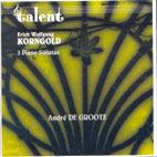 3 PIANO SONATAS/ ANDRE DE GROOTE