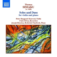 SOLOS AND DUOS FOR VIOLIN AND PIANO/ PETER SHEPPARD SKAERVED, CHRIS ORTON [시마쿠: 독주곡과 이중주곡]