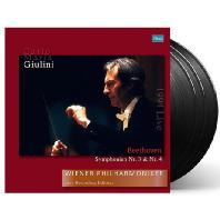 SYMPHONIES NOS.3 & 4/ CARLO MARIA GIULINI [180G LP] [베토벤: 교향곡 3,4번: 빈 필하모닉 라이브 레코딩 에디션 - 카를로 마리아 줄리니] [한정반]