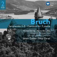 SYMPHONIES 1-3, PIANO WORKS/ JAMES CONLON, ANTAL DORATI [브루흐: 교향곡 및 2대의 피아노를 위한 협주곡]