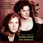 WORKS FOR CELLO & PIANO/ QUIRINE VIERSEN/ SILKE AVENHAUS