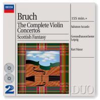 THE COMPLETE VIOLIN CONCERTOS - SCOTTISH FANTASY/ SALVATORE ACCARDO, KURT MASUR [브루흐: 바이올린 협주곡 - 아카르도, 마주어]