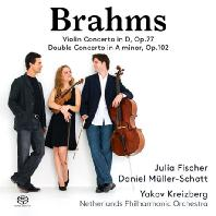 VIOLIN CONCERTOS OP.77 & DOUBLE CONCERTO OP.102/ JULIA FISCHER, YAKOV KREIZBERG [SACD HYBRID] [브람스: 바이올린 & 이중 협주곡]