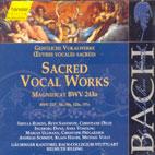 SACRED VOCAL WORKS (MAGNIFICAT BWV.243A)/ HELMUTH RILLING