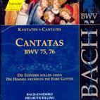 CANTATAS BWV. 75, 76/ INGEBORG REICHELT