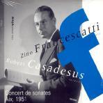 CONCERT DE SONATES AIX 1951/ ZINO FRANCESCATTI/ ROBERT CASADESUS