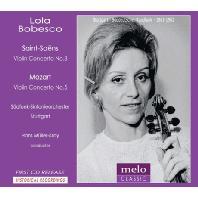 VIOLIN CONCERTO NO.3/ LOLA BOBESCO, HANS MULLER-KRAY [롤라 보베스코: 바이올린 협주곡 - 생상스, 모차르트]