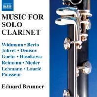 MUSIC FOR SOLO CLARINET/ EDUARD BRUNNER
