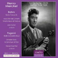 BRAHMS, PAGANINI: VIOLIN CONCERTOS/ MANUEL ROSENTHAL [앙리 메르켈: 1953-1958 콘서트실황]