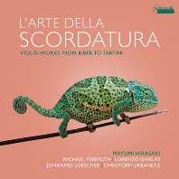 L`ARTE DELLA SCORDATURA: VIOLIN WORKS FROM BIBER TO TARTINI/ MAYUMI HIRASAKI, LORENZO GHIELMI [스코르다투라의 예술: 비버, 빌스마이어, 로나티, 카스트루치, 타르티니 소나타