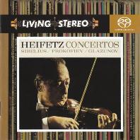 VIOLIN CONCERTOS/ JASCHA HEIFETZ [SACD HYBRID] [LIVING STEREO] [시벨리우스, 프로코피에프, 글라주노프: 바이올린 협주곡 - 하이페츠]